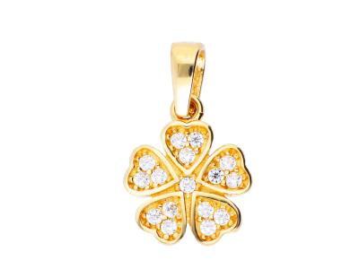Pandantiv aur galben 14K floricica