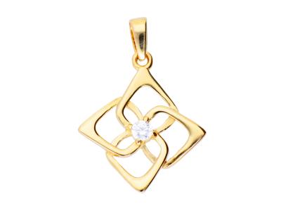 Pandantiv din aur 14K forma geometry