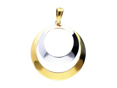 Pandantiv geometry din aur 14K