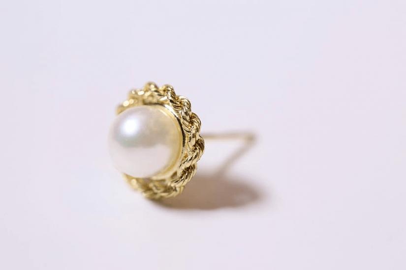 cercei de aur cu perla stud