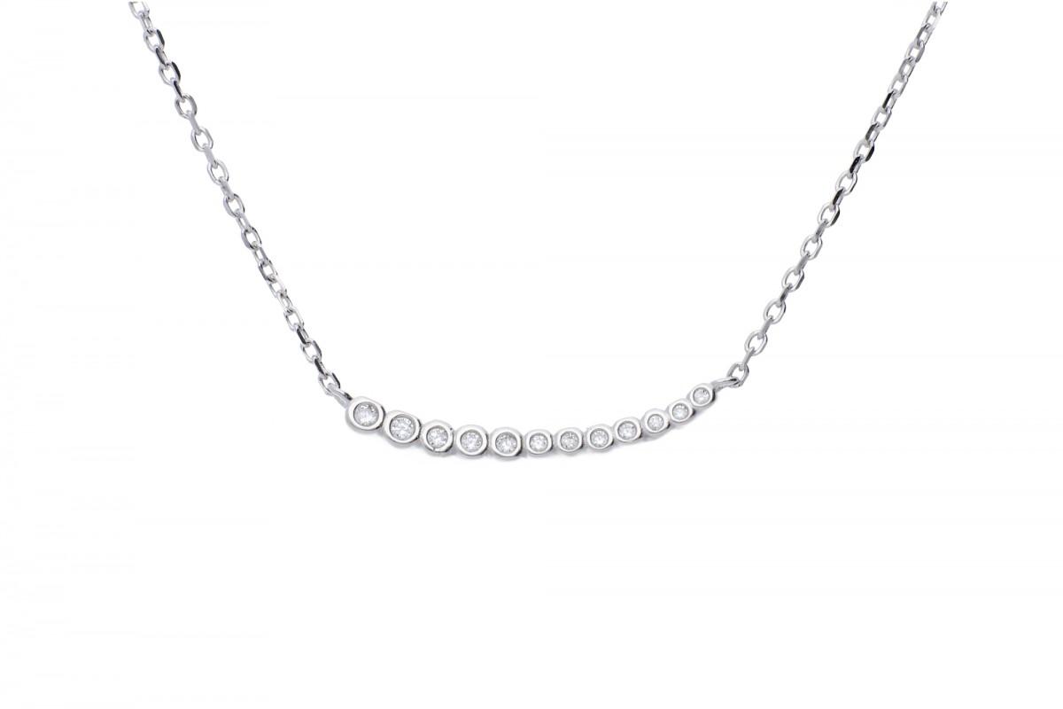 Bijuterii argint lant cu pandant cu zirconii