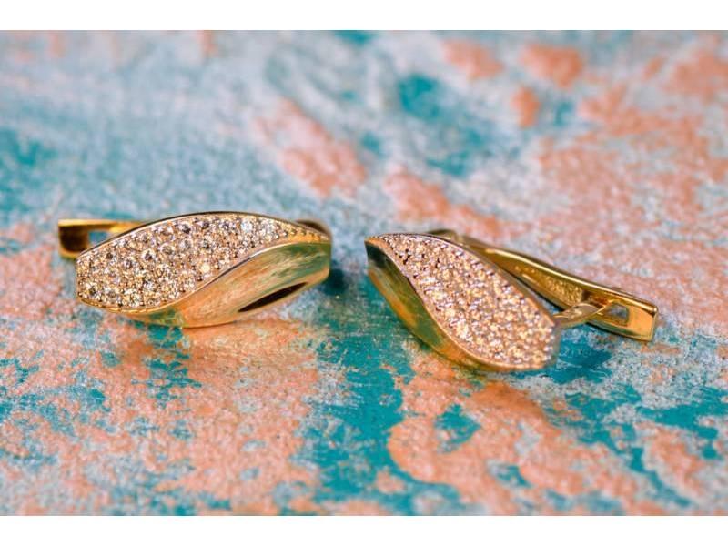 Bijuterii aur 14K cercei