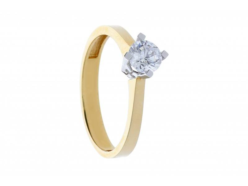 Bijuterii aur 14k inel de logodna cadouri dama
