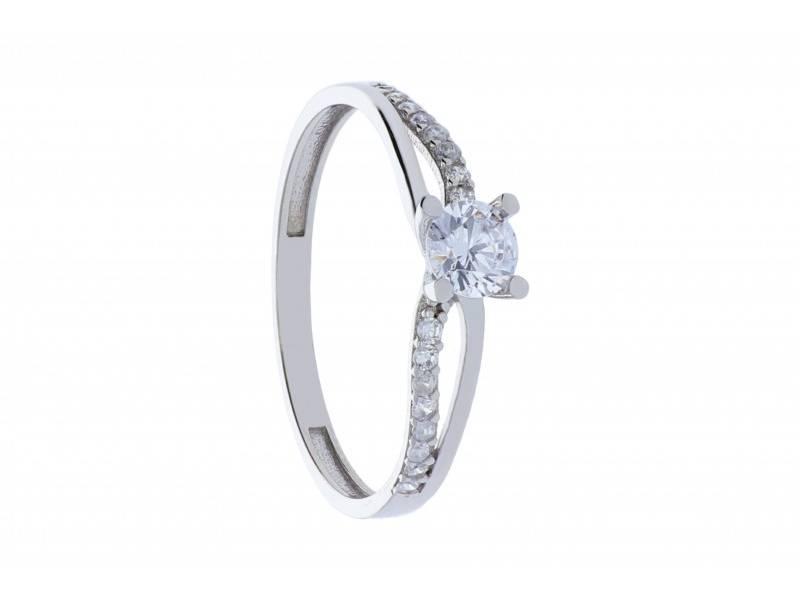 Bijuterii aur alb inel de logodna