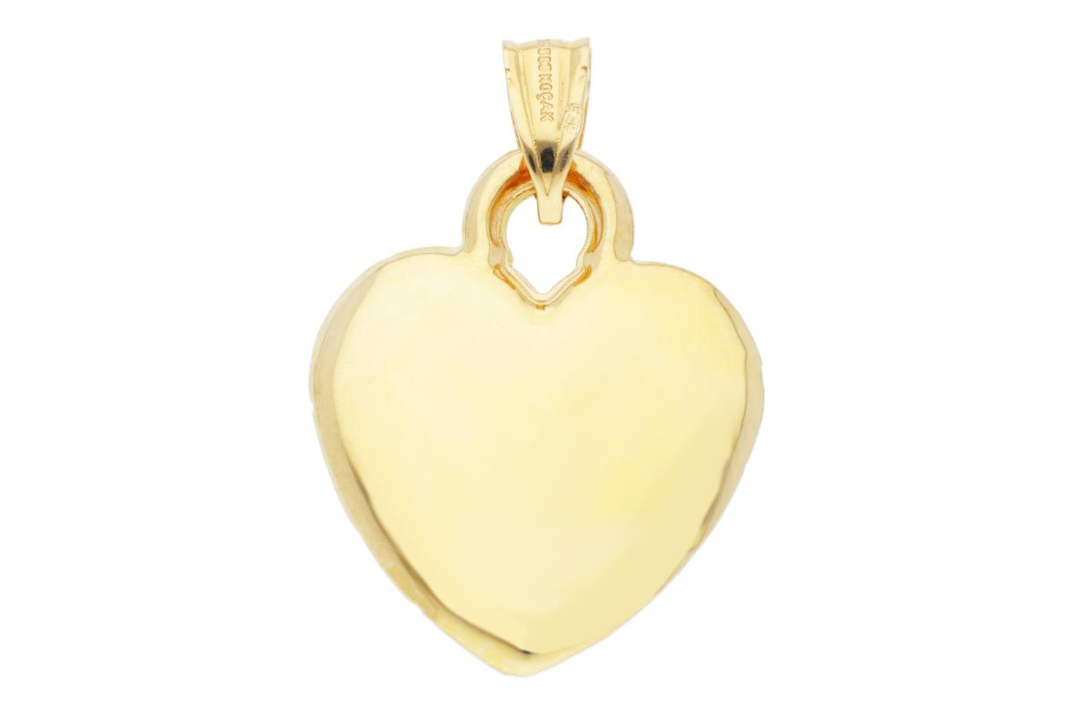 Bijuterii aur online - Medalion dama aur 14K galben si alb inimioara gravabila