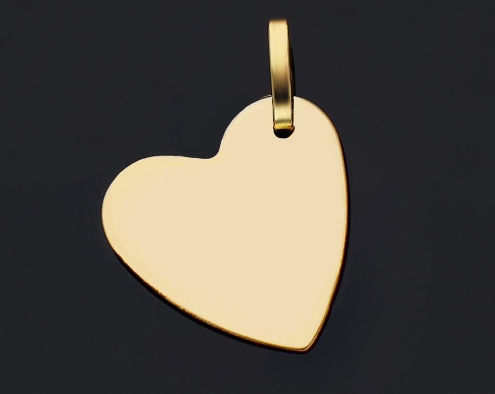 Bijuterii aur online - Pandant din aur 14K  inimioara gravabila