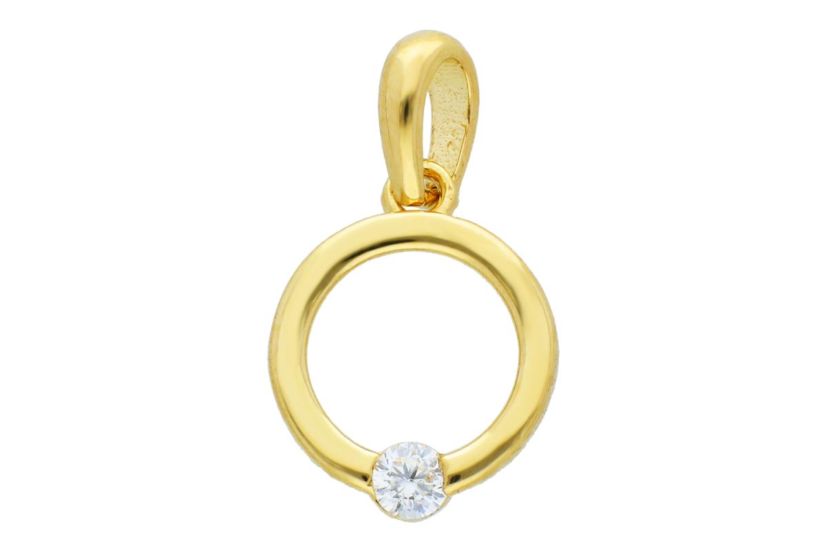 Bijuterii aur online - Pandantive dama aur 14K galben inel