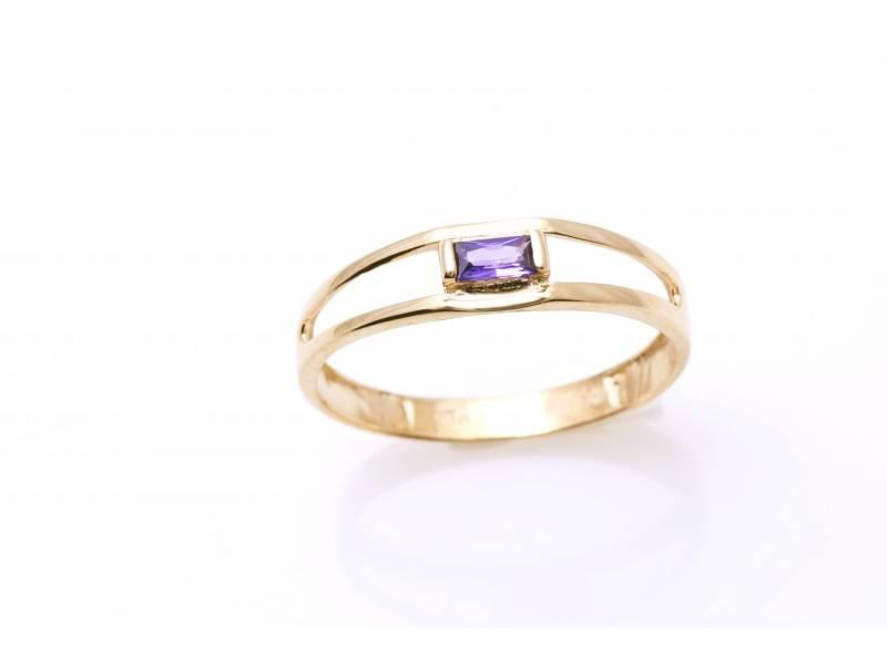 Bijuterii cu pietre colorate inel aur 14k