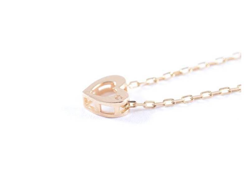 Bijuterii deosebite aur lant cu pandant inimioara cu zircon