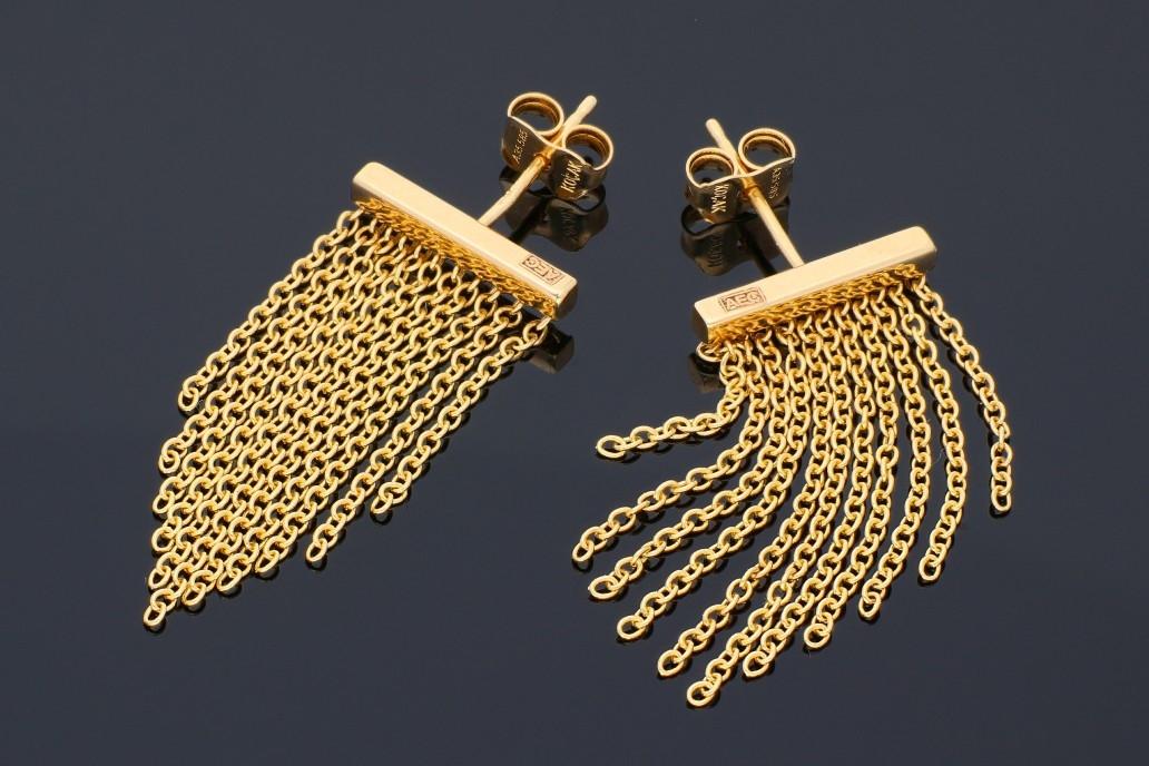 Cercei cu surub aur 14K galben