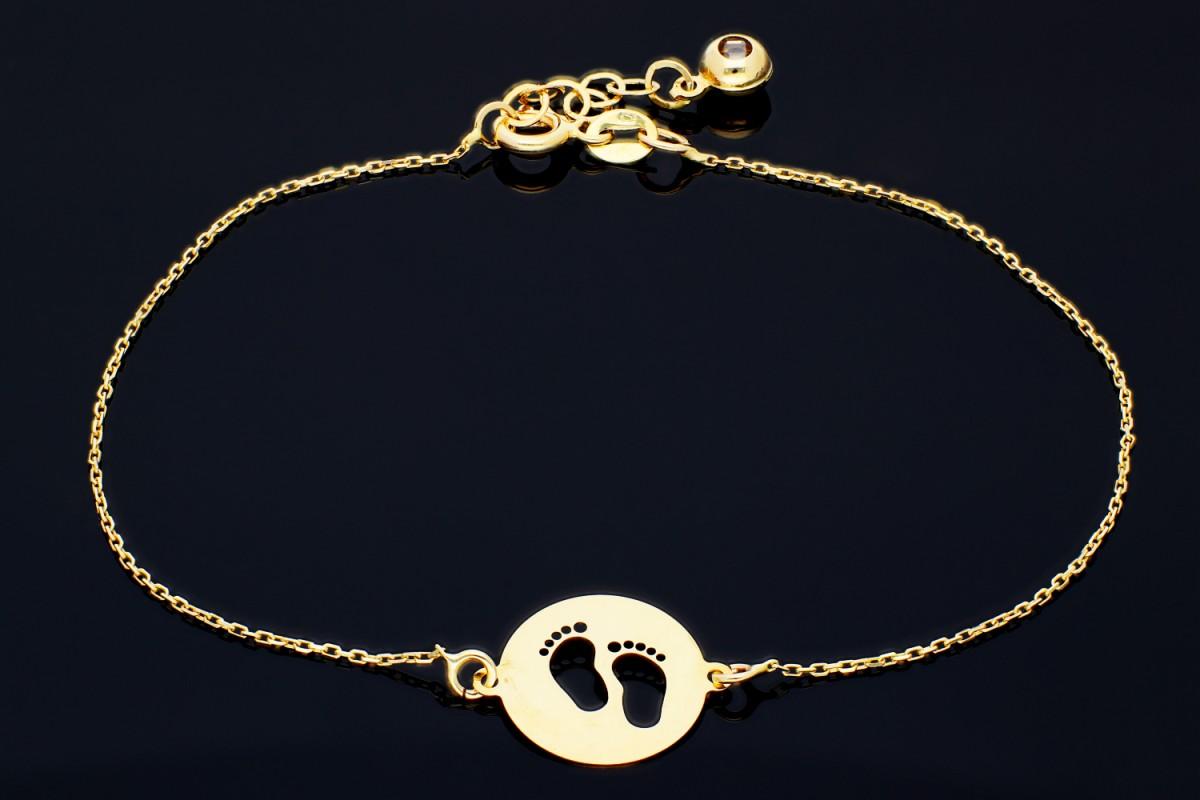 Bratara aur banut 14K bijuterii personalizate picioruse bebe