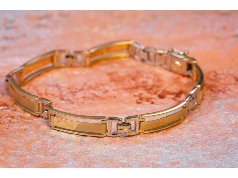 Bratara barbateasca semi mobila bijuterii aur