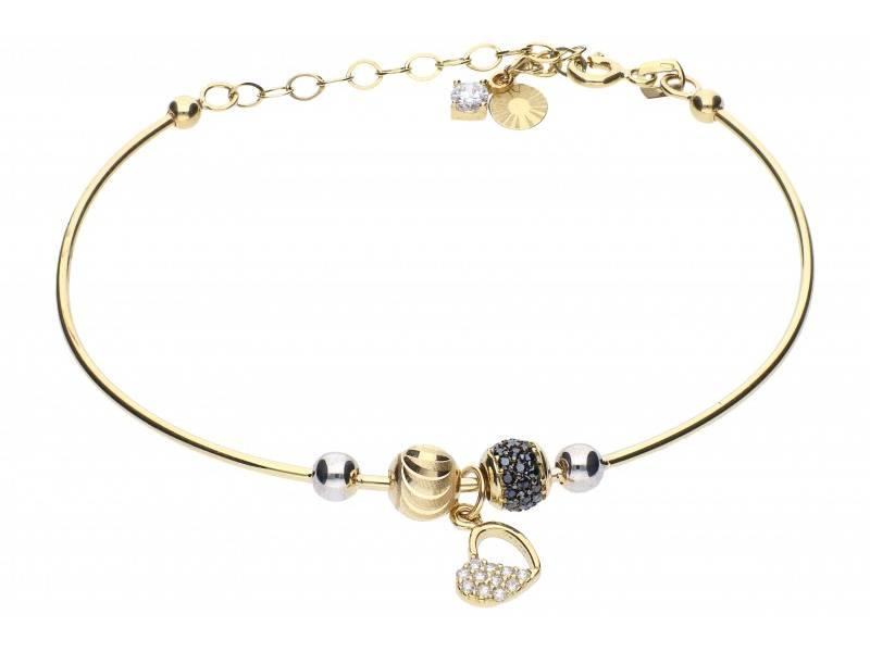 Bratara cu charm bijuterii aur 14K