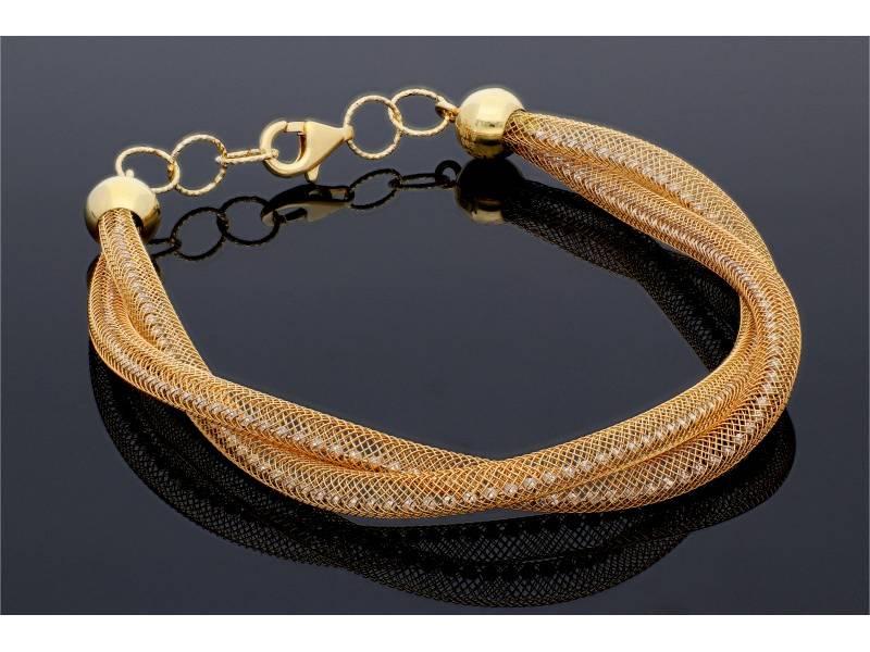 Bratara dama aur 14K semi-elastica