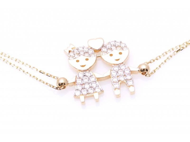 Bratara dama bijuterii aur cadou baiat si fetita