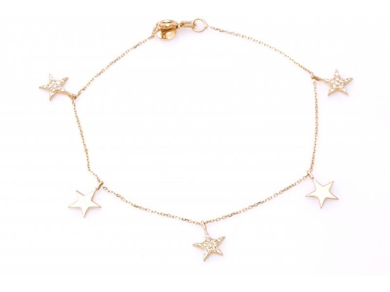 Bratara dama bijuterii aur cadou stelute