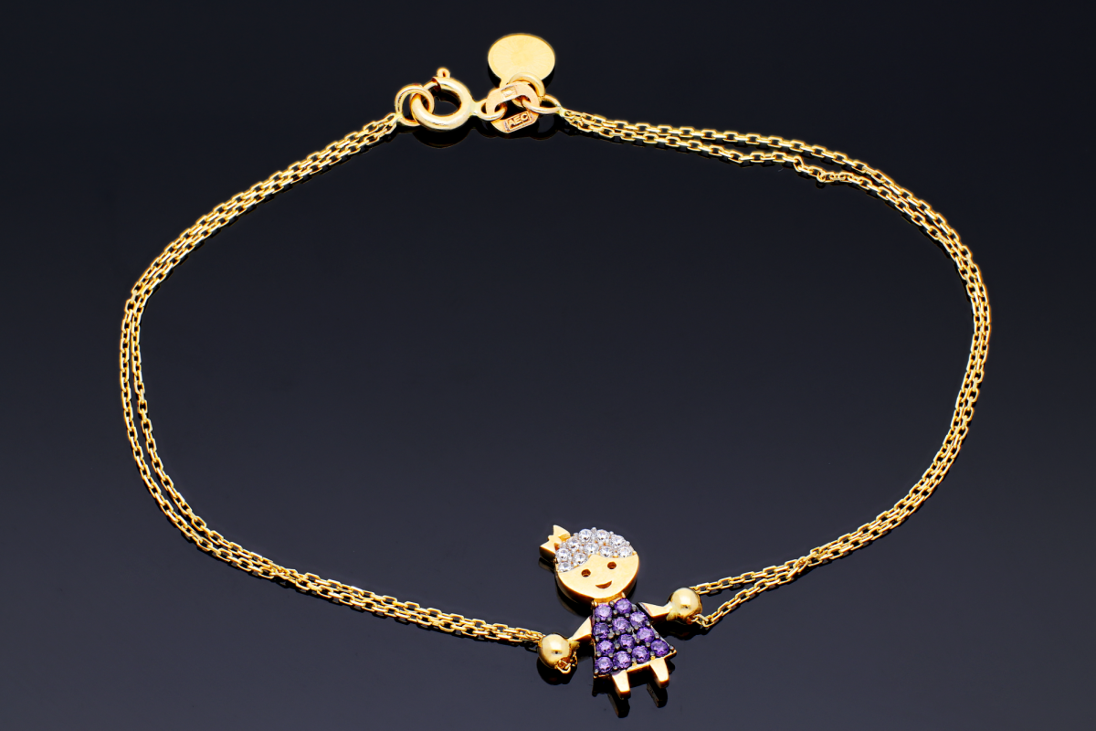Bratara dama cadou bijuterii aur fetita