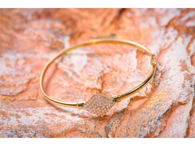 Bratara fixa dama bijuterii aur cu zirconia