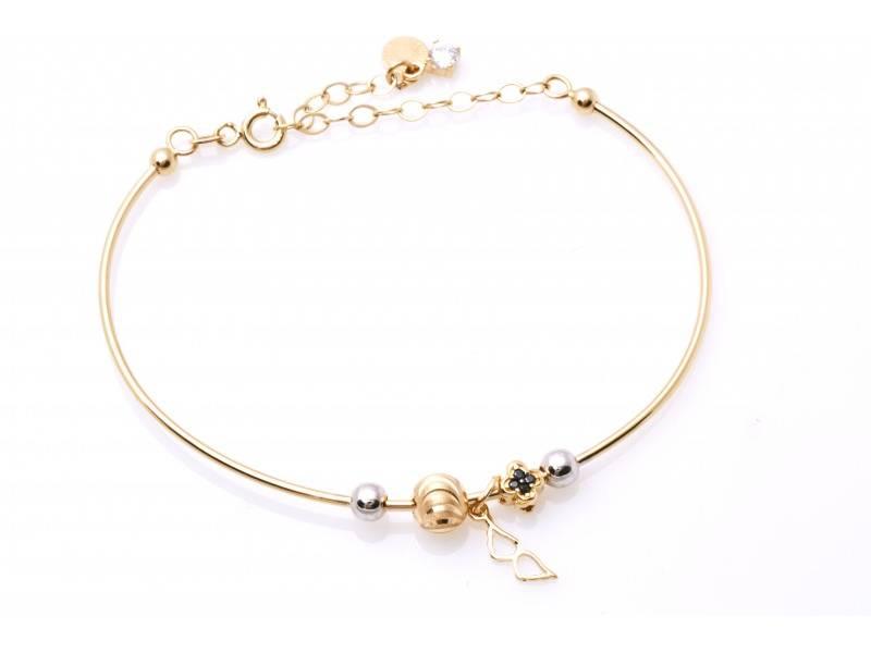 Bratara fixa usor reglabila bijuterii aur 14k