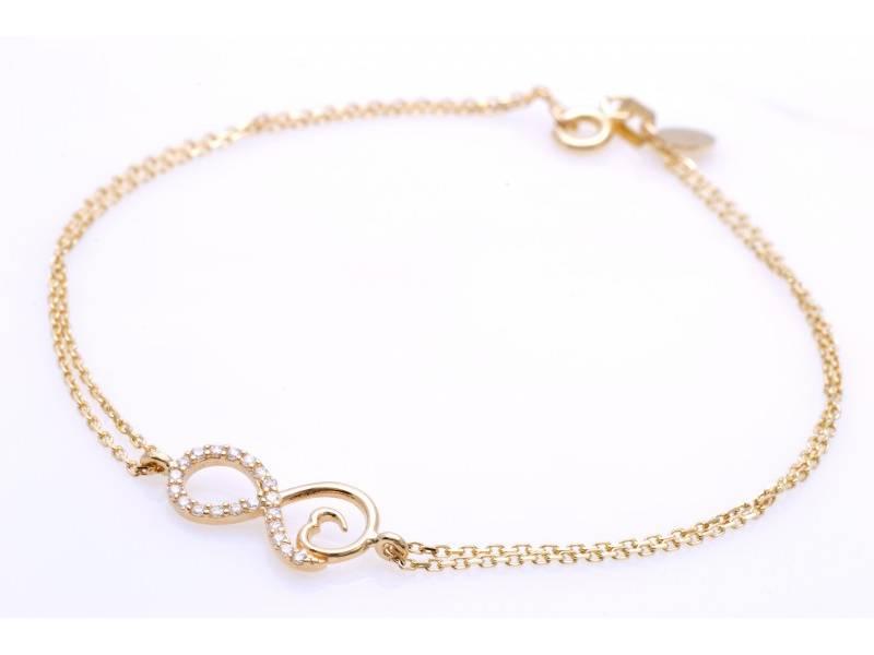 Bijuterii din aur - Bratara mobila dama aur 14K galben infinit