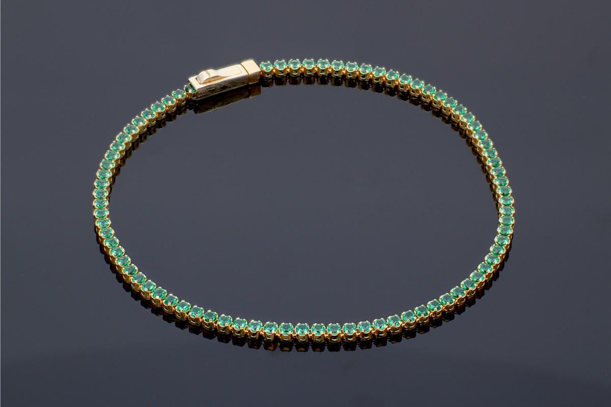vânzare la preț mic priză concept nou Bratara tenis pietre verzi bijuterii aur Cod BM12812 | Vezi Pret ...