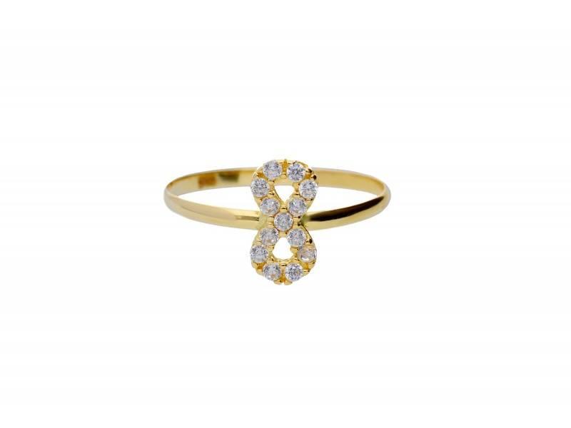 Cadouri bijuterii inel copii infinit aur 14k