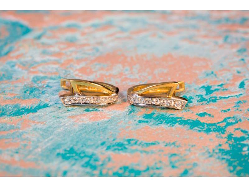 Cercei aur 14 k bijuterii cadou