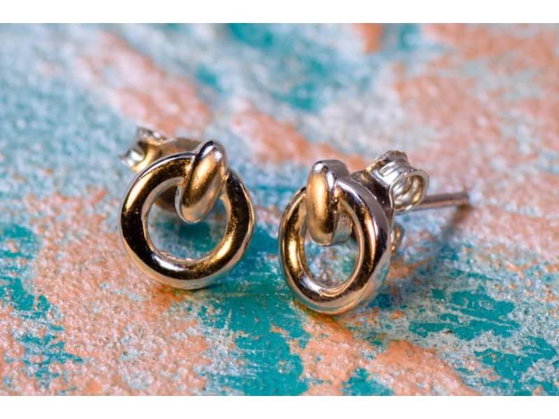 Cercei aur 14 k bijuterii dama