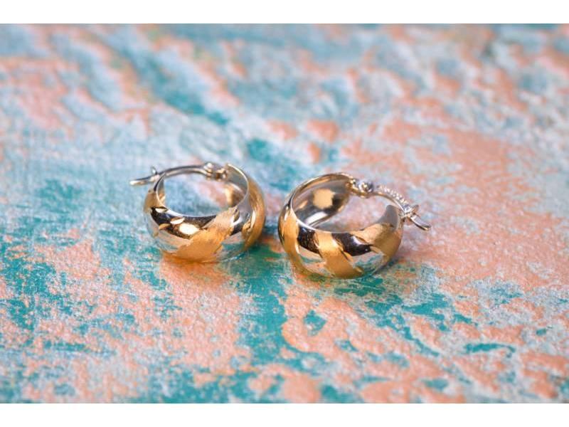 Cercei aur 14 k bijuterii dama tortita