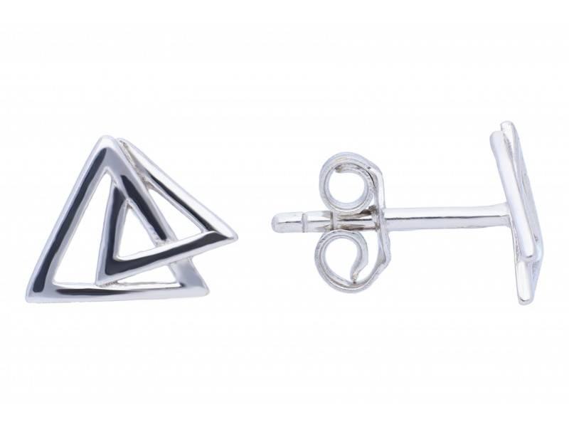 Cercei aur 14 k bijuterii dama triunghi