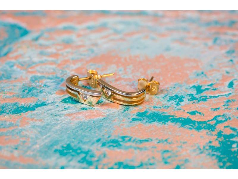 Cercei aur 14K bijuterii