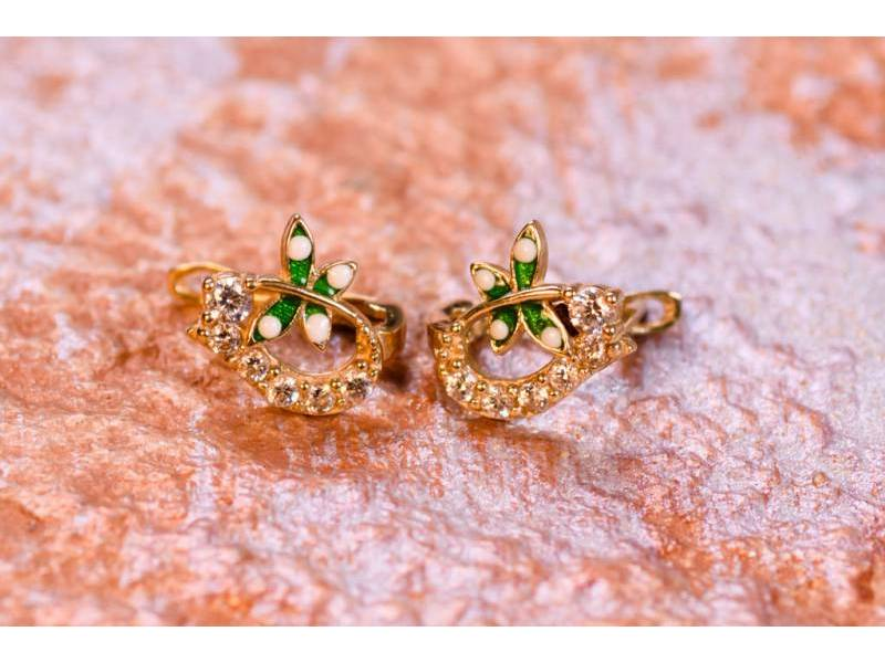 Cercei aur 14K bijuterii copii