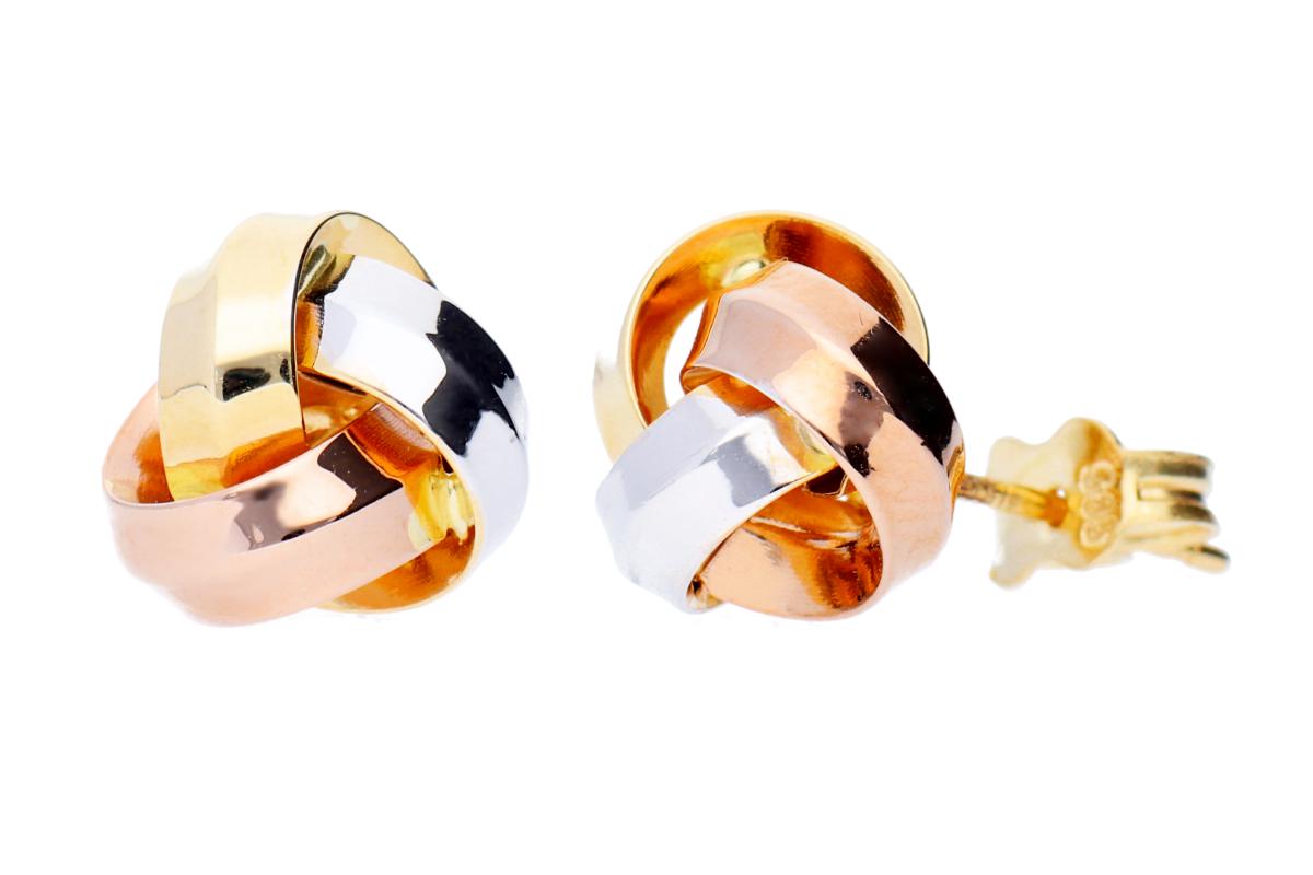 Cercei aur 14k cu surub bijuterii dama