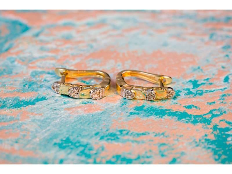 Cercei aur bijuterie cadou cu zirconia