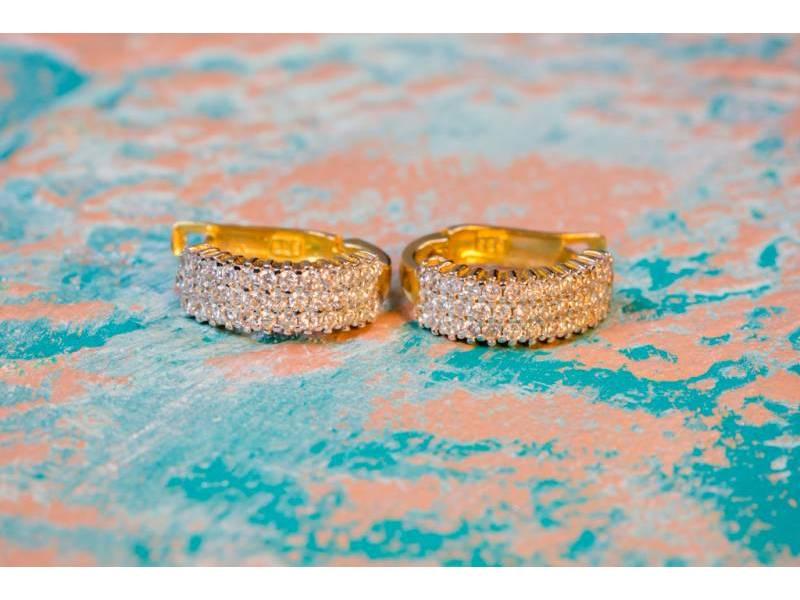 Cercei aur bijuterii dama cu zirconii