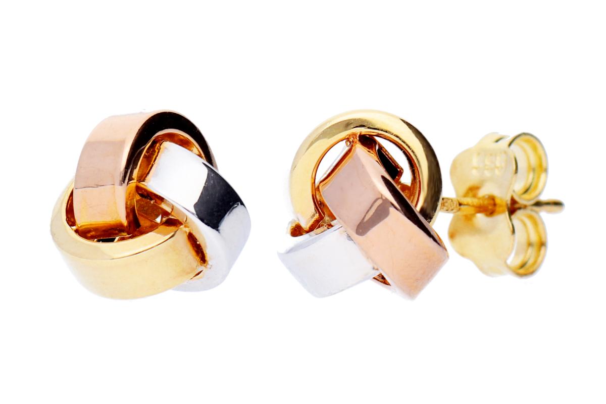 Cercei aur cu surub bijuterii dama