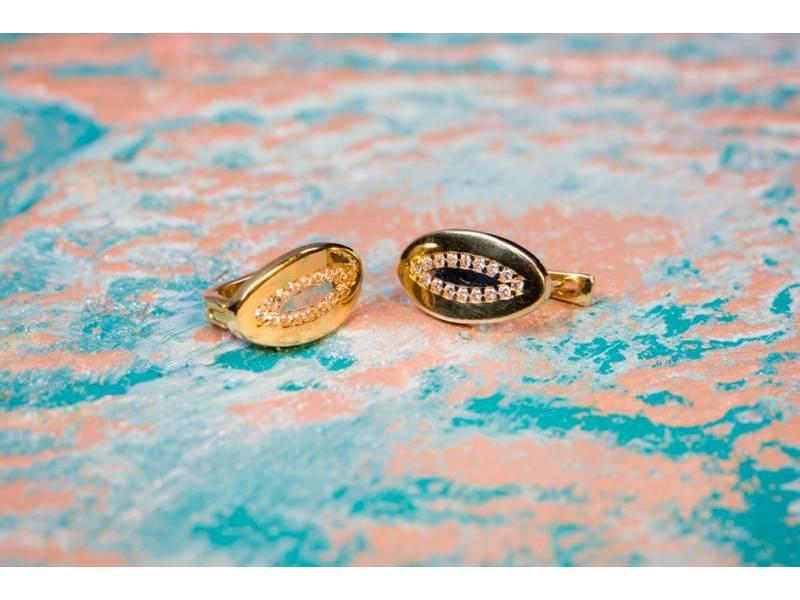 Cercei aur cu zirconii