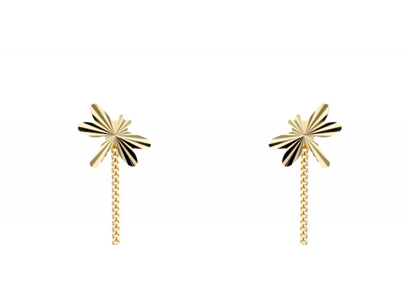 Cercei cu lant aur 14k cadouri bijuterii libelula