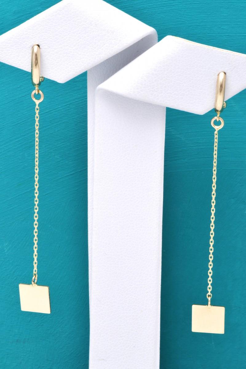Cercei cu pandant aur 14K bijuterii