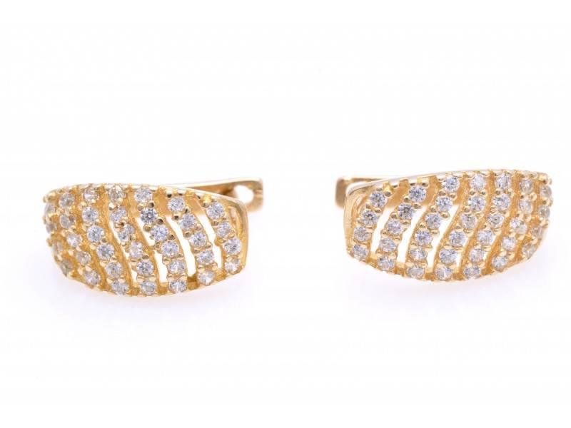 Cercei dama aur 14K bijuterii