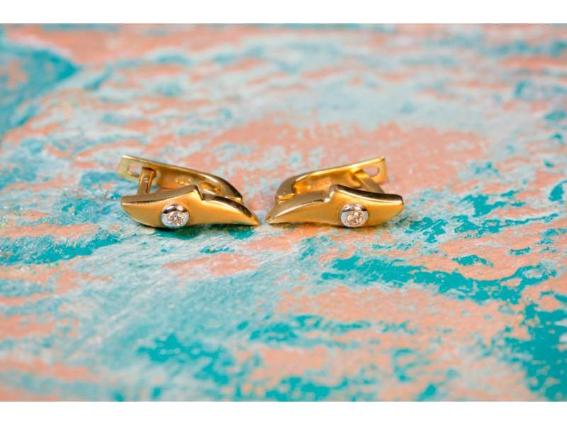 Cercei dama aur 14k cadouri bijuterii