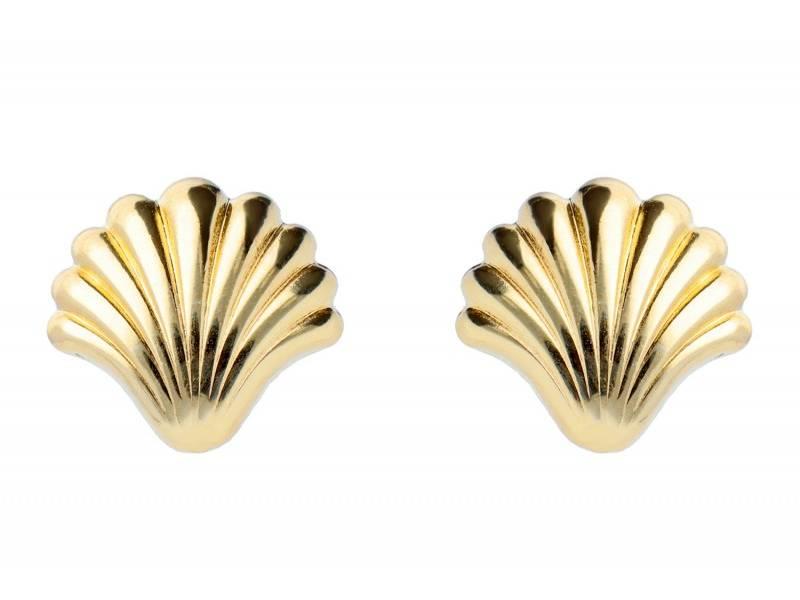Cercei dama aur  galben model scoica