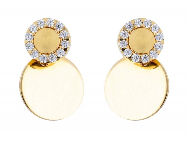 Cercei surub aur 14K bijuterii dama