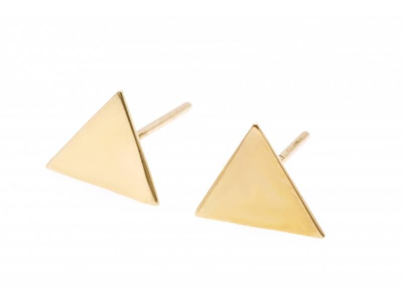 Cercei surub aur 14K triunghi