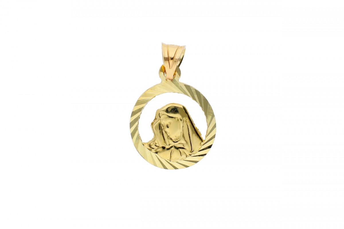 Iconita aur 14K galben Maica Domnului