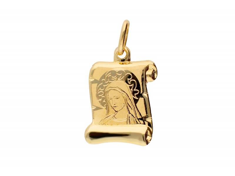 Iconita din aur 14k, Maica Domnului