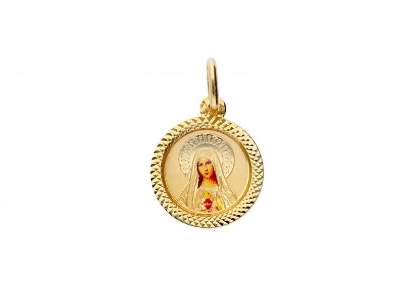Iconita Maica Domnului bijuterii aur 14k