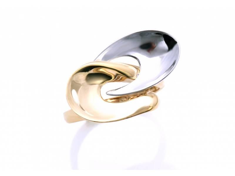 Bijuterii aur - Inele aur 14K alb si galben