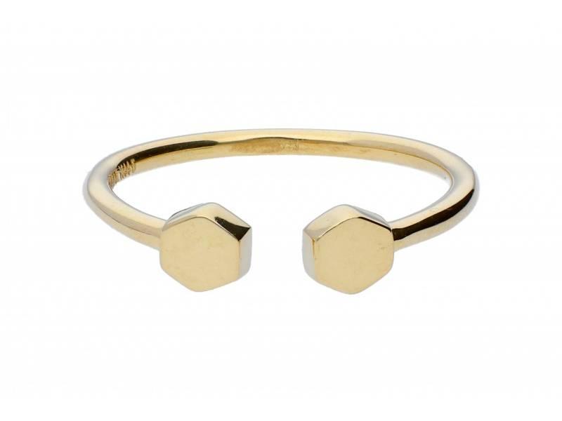 Inel aur 14k cadouri bijuterii geometrie
