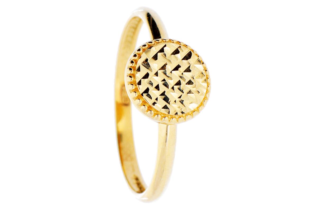 Bijuterii aur online - Inele aur 14K galben geometry